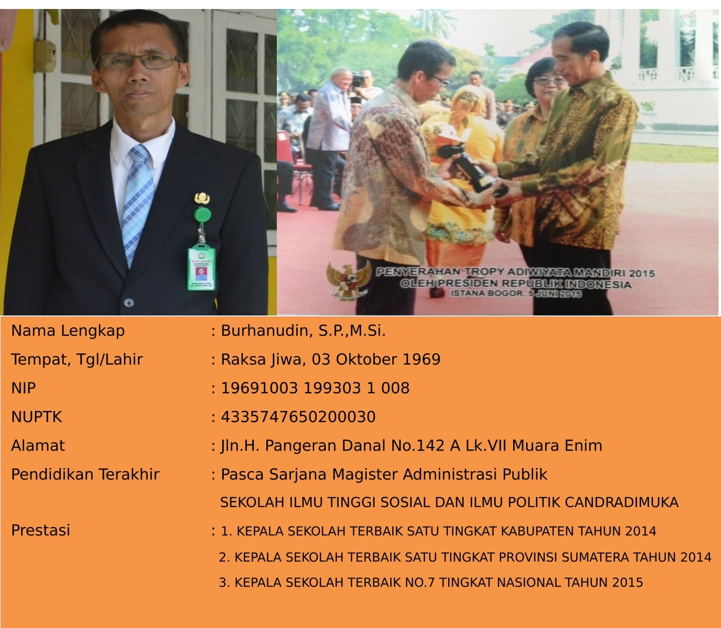 Kepala Sekolah SMKN 2 Muara Enim