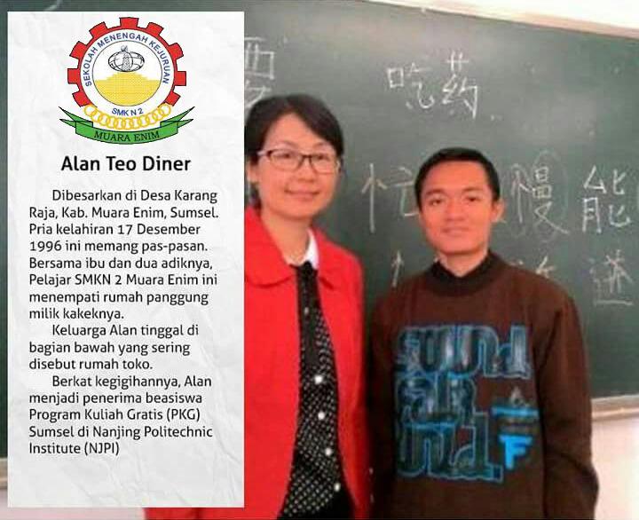 alumni berprestasi smkn 2 muara enim alan tio diner