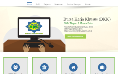 Launching Website Bursa Kerja Khusus (BKK) SMKN 2 Muara Enim