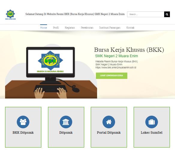 Website Bursa Kerja Khusus - BKK SMKN 2 Muara Enim