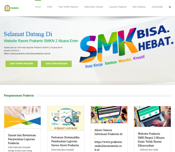 Website Prakerin SMKN 2 Muara Enim