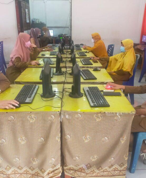 SMKN 2 Muara Enim Laksanakan Simulasi ANBK TP. 2021-2022