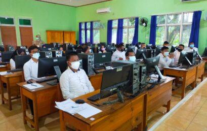 Pelaksanaan Tes PPPK Jabatan Fungsional Guru TUK SMKN 2 Muara Enim 2021
